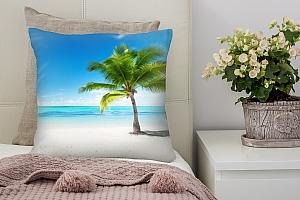 3D Подушка «Одинокая пальма» вид 2