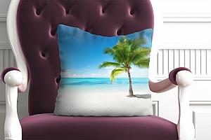 3D Подушка «Одинокая пальма» вид 4