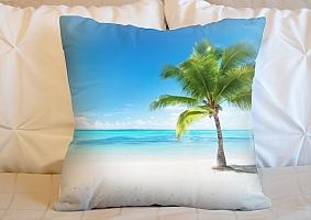3D Подушка «Одинокая пальма» вид 5