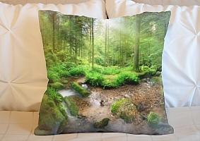 3D Подушка «Солнечный день в зеленом лесу» вид 5