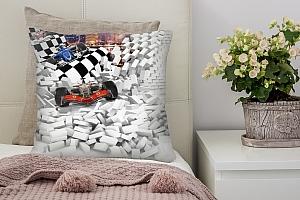 3D Подушка «Формула-1 сквозь стену» вид 2