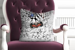 3D Подушка «Формула-1 сквозь стену» вид 4