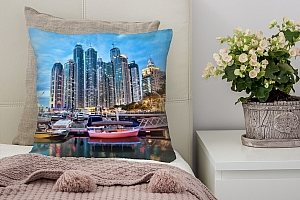 3D Подушка «Вечерний Дубай»