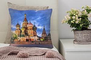 3D Подушка «Вечерний кремль»