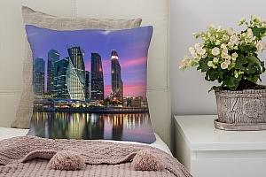 3D Подушка «Москва Сити вечером»