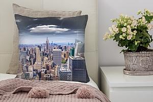 3D Подушка «Над небоскребами»