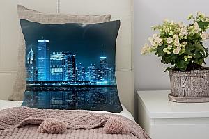 3D Подушка «Неоновая ночь»