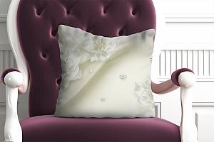 3D Подушка «Композиция из тканевых цветов»