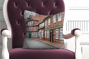 3D Подушка «Между кирпичными домами» вид 4
