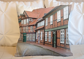 3D Подушка «Между кирпичными домами» вид 5