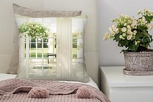 3D Подушка «Светлая веранда»