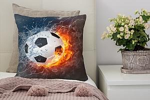 3D Подушка «Огненный футбольный мяч»