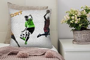 3D Подушка «Спортивный коллаж»