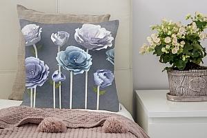 3D Подушка «Загадочные цветы»
