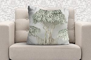 3D Подушка «Зеленый бонсай» вид 5