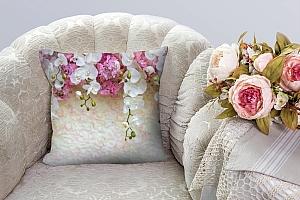 3D Подушка «Ниспадающие орхидеи» вид 3