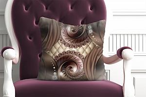 3D Подушка «Бронзовая фантазия»