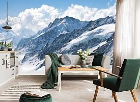 3D Фотообои  «Пейзаж в заснеженных горах»  вид 6