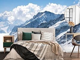 3D Фотообои  «Пейзаж в заснеженных горах»  вид 4