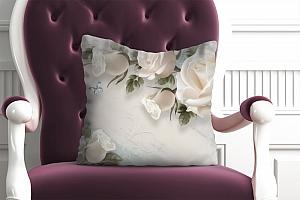 3D Подушка «Винтажная композиция с розами»