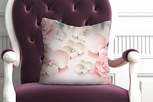 3D Подушка «Карамельные цветы»