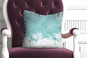 3D Подушка «Одуванчики на облачном фоне»