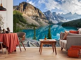 3D Фотообои  «Горное озеро в Альпах»  вид 5