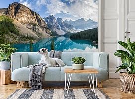 3D Фотообои  «Горное озеро в Альпах»  вид 2