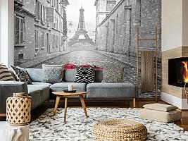 3D Фотообои «Дождь в Париже»