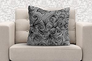 3D Подушка «Пепельный узор»