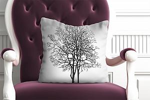 3D Подушка «Чёрное дерево»