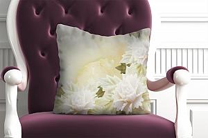 3D Подушка «Мраморные цветы»