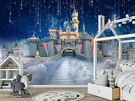 3D Фотообои «Звездопад над сказочным замком» вид 6