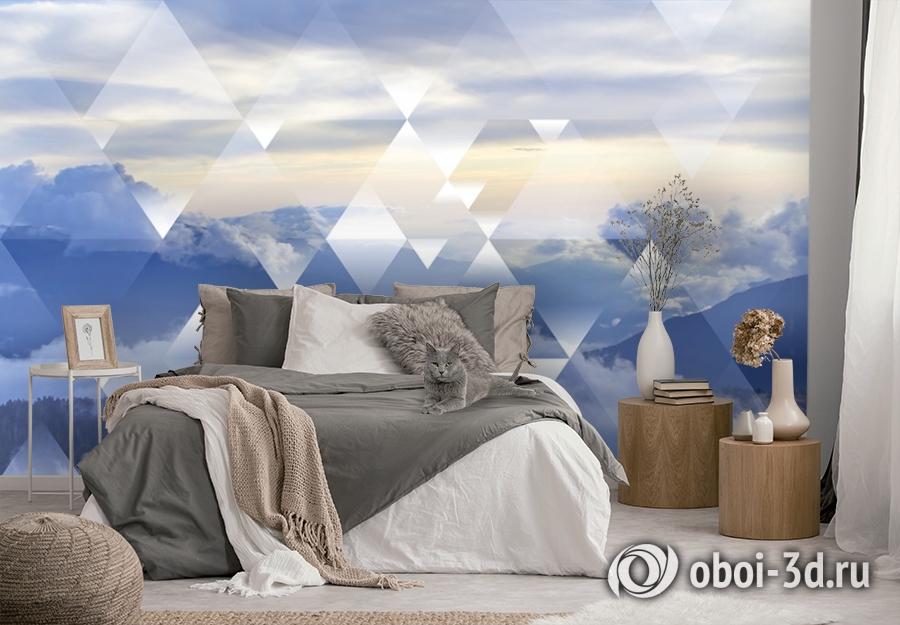 3D Фотообои  «Облачная геометрия» вид 4