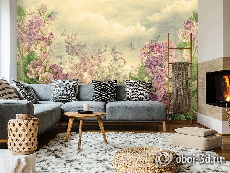 3D Фотообои  «Цветы на лугу» вид 7