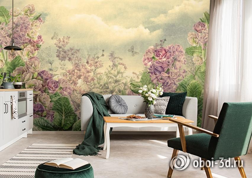 3D Фотообои  «Цветы на лугу» вид 2