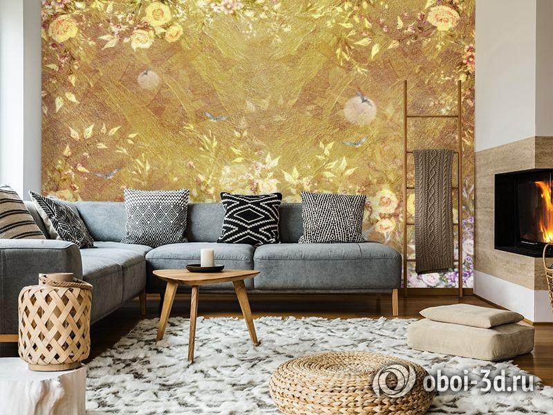 3D Фотообои  «Золотая композиция» вид 8