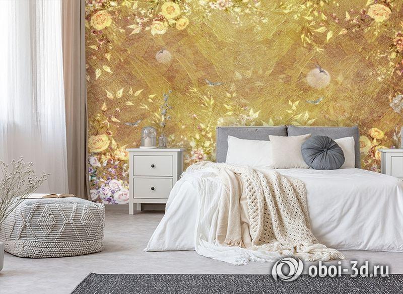 3D Фотообои  «Золотая композиция» вид 7