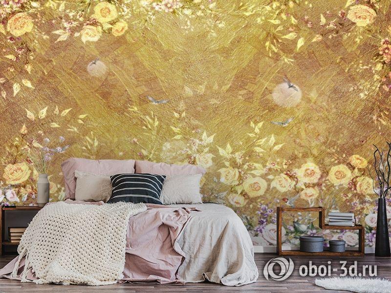 3D Фотообои  «Золотая композиция» вид 5