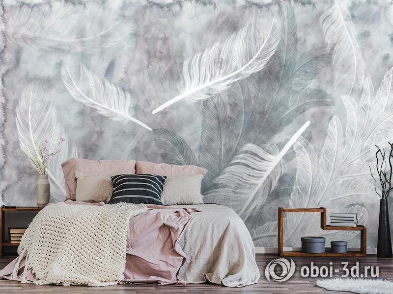 3D Фотообои  «Воздушные перья» вид 4