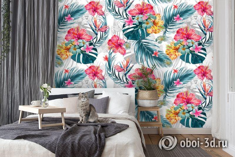 3D Фотообои  «Тропические цветы» вид 7
