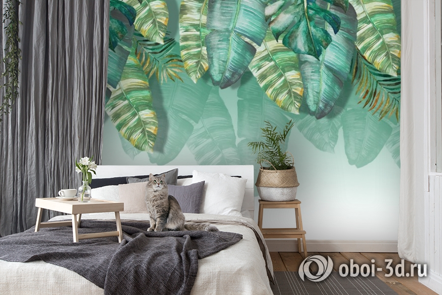 3D Фотообои  «Изумрудная пальма» вид 7