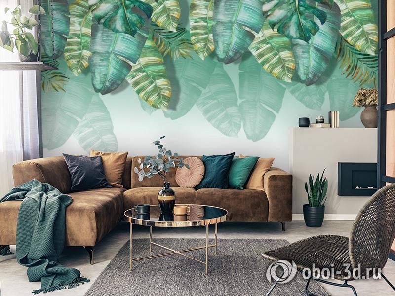 3D Фотообои  «Изумрудная пальма» вид 4