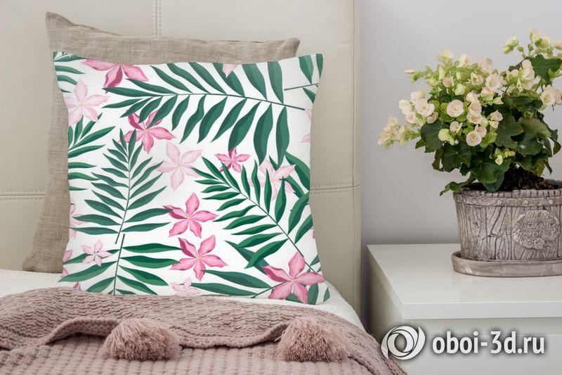 3D Подушка «Нежность в тропическом саду»