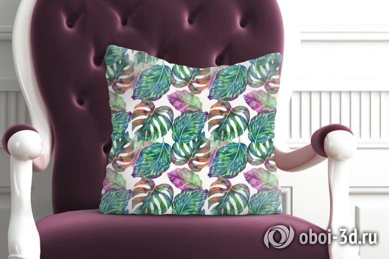 3D Подушка «Листья с акцентами» вид 6