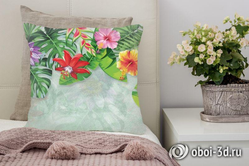 3D Подушка «Тропическая роща»