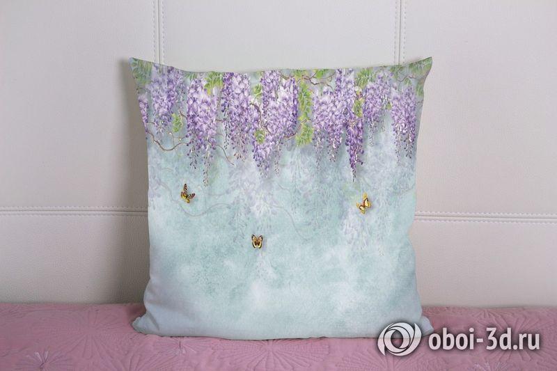 3D Подушка «Сирень с бабочками» вид 5