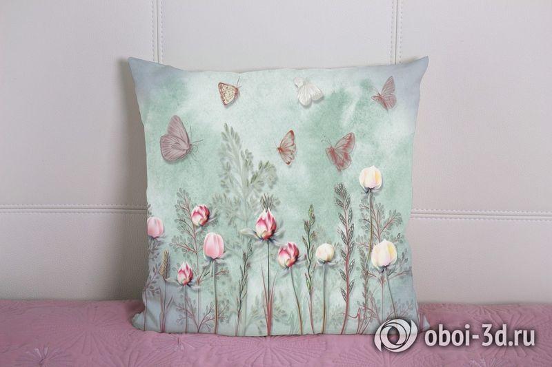3D Подушка «Бабочки в саду» вид 2