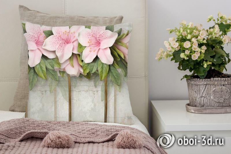 3D Подушка «Бархатистые цветы»