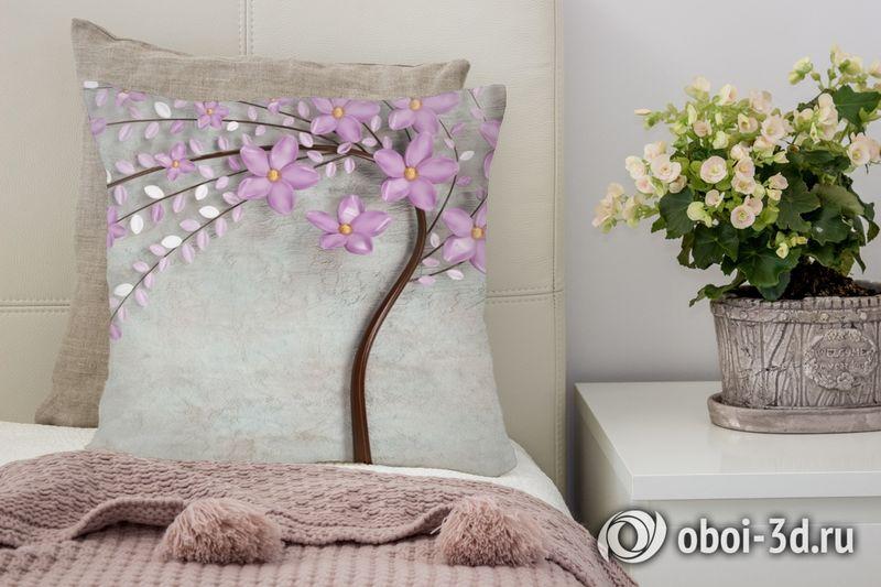 3D Подушка «Весенняя сакура»